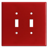 Oversized 2 Gang Toggle Light Switch Plates - Red