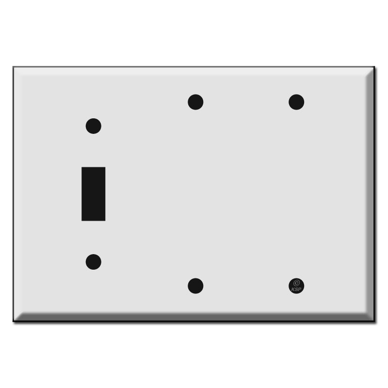 Toggle Plus Two Blank Combo Switch Plates