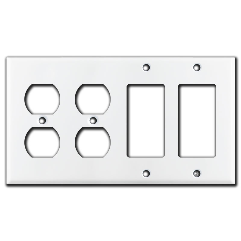 2 duplex outlet 2 decora rocker gfi switch plates