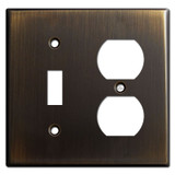 Toggle Duplex Outlet Cover Plates - Oil Rubbed Bronze