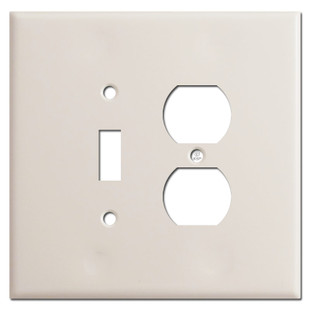 Oversized Toggle Duplex Outlet Covers - Light Almond