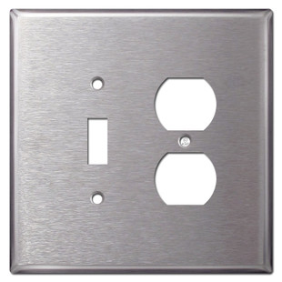 Oversized Toggle Outlet Covers - Satin Stainless Steel