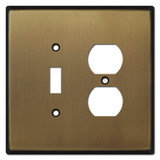 Oversized 1 1Toggle  Outlet Switch Plate Cover - Antique Brass