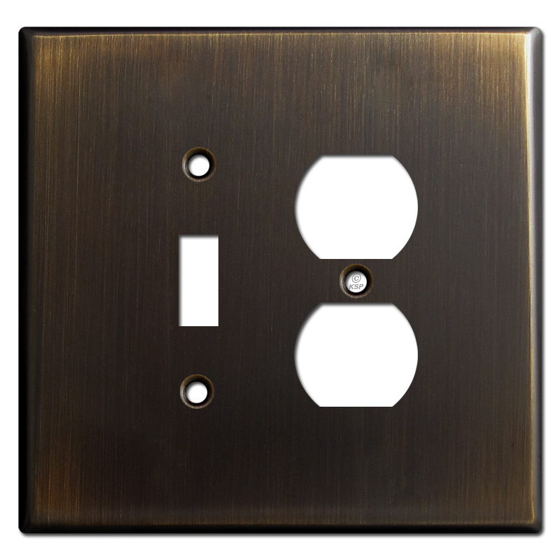 Metal Electrical Outlet Covers Oversized Outlet Covers: Oversized 1 Toggle 1 Outlet Cover Plate