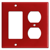 1 Decora Rocker 1 Outlet Switchplate - Red