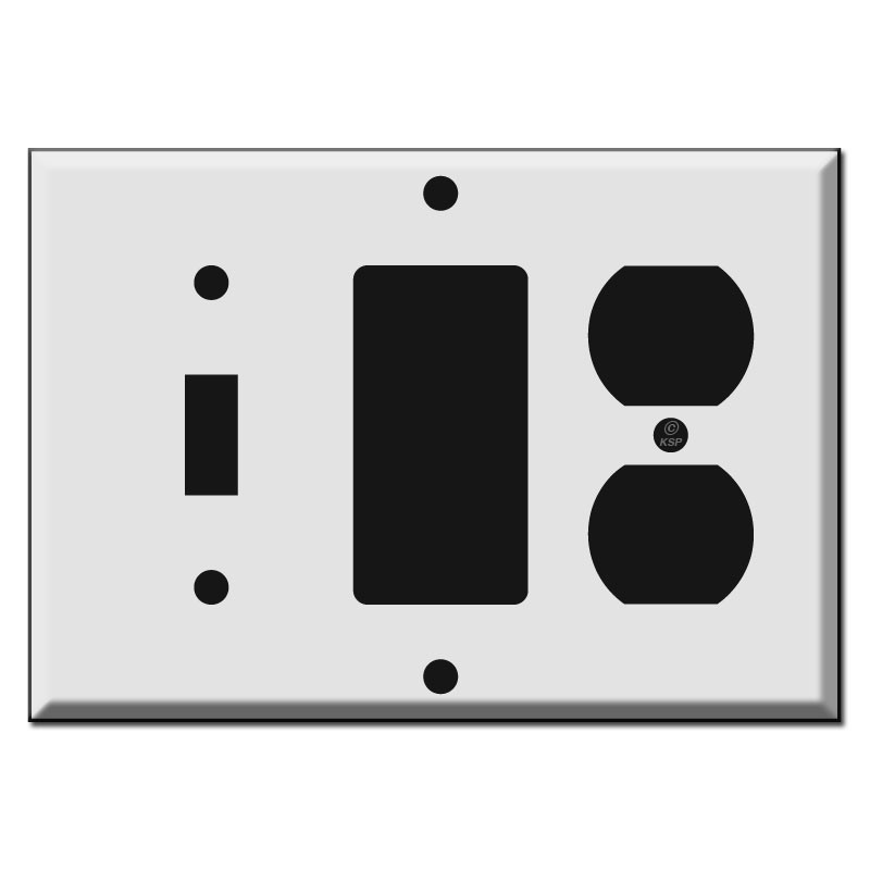 Toggle Decora Rocker And Outlet Combo Switch Plate