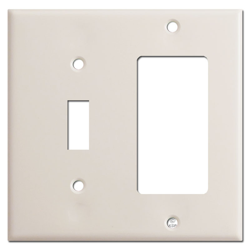 Toggle Switch Gfi Decora Outlet Combo Plate Covers Light Almond