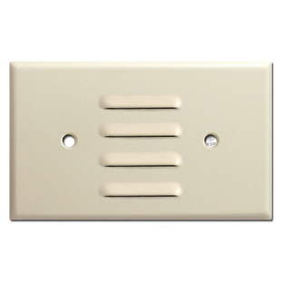 Horizontal Louver Wallplate to Cover Light - Ivory