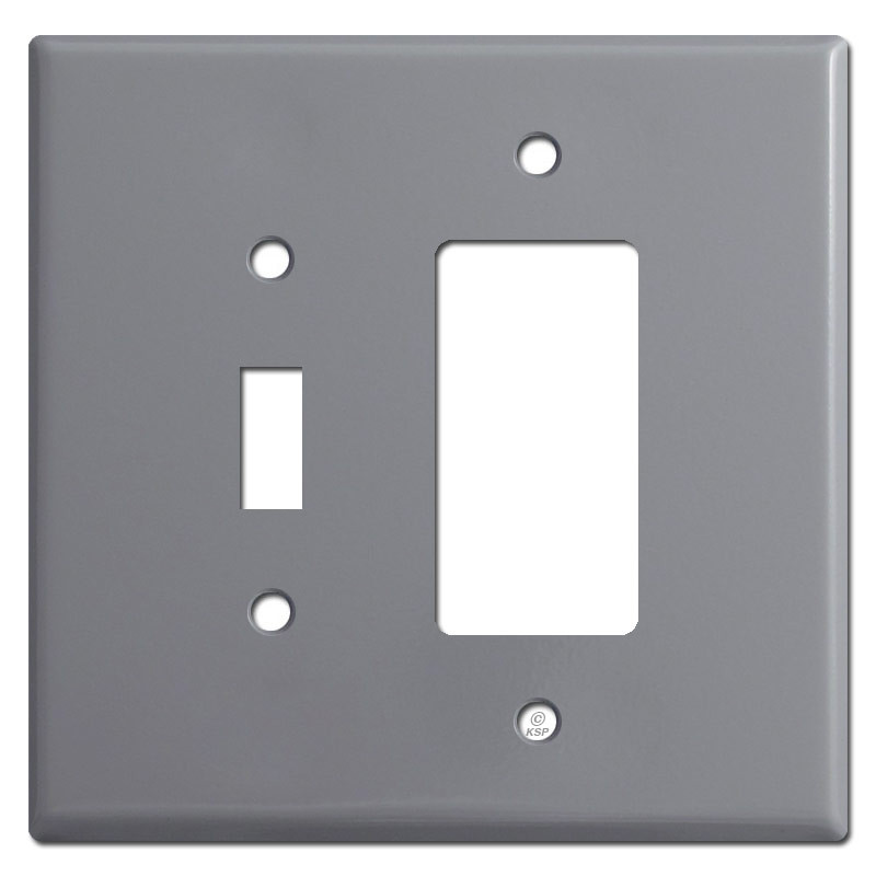Toggle Switch & GFCI Receptacle Cover Plates - Gray