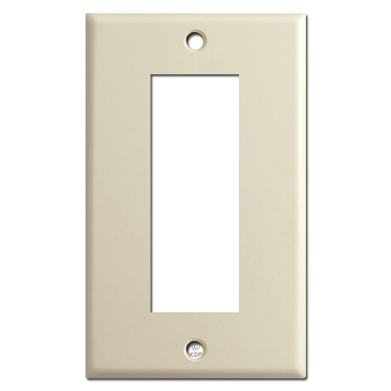 Style Sierra Electric Biplex Outlet Cover Switch Plates - Ivory