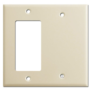 Decora Rocker Switch & Blank Combo Wall Plates - Ivory