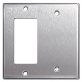Rocker & Blank Combo Light Switch Plates - Spec Grade Stainless Steel