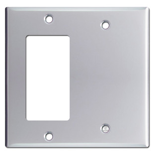 Decora GFI & Blank 2-Gang Switch Plate Covers - Polished Chrome