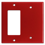 1 Decora Rocker Switch & 1 Blank Combo Wall Switch Plates - Red