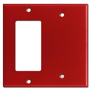 1 Decora Rocker Switch & 1 Blank Combo Wall Switch Plates - Red