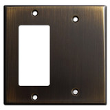Decora Rocker & Blank Switch Wall Plates - Oil Rubbed Bronze