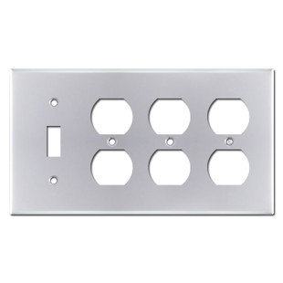1 Toggle and 3 Duplex Outlet Switch Plates