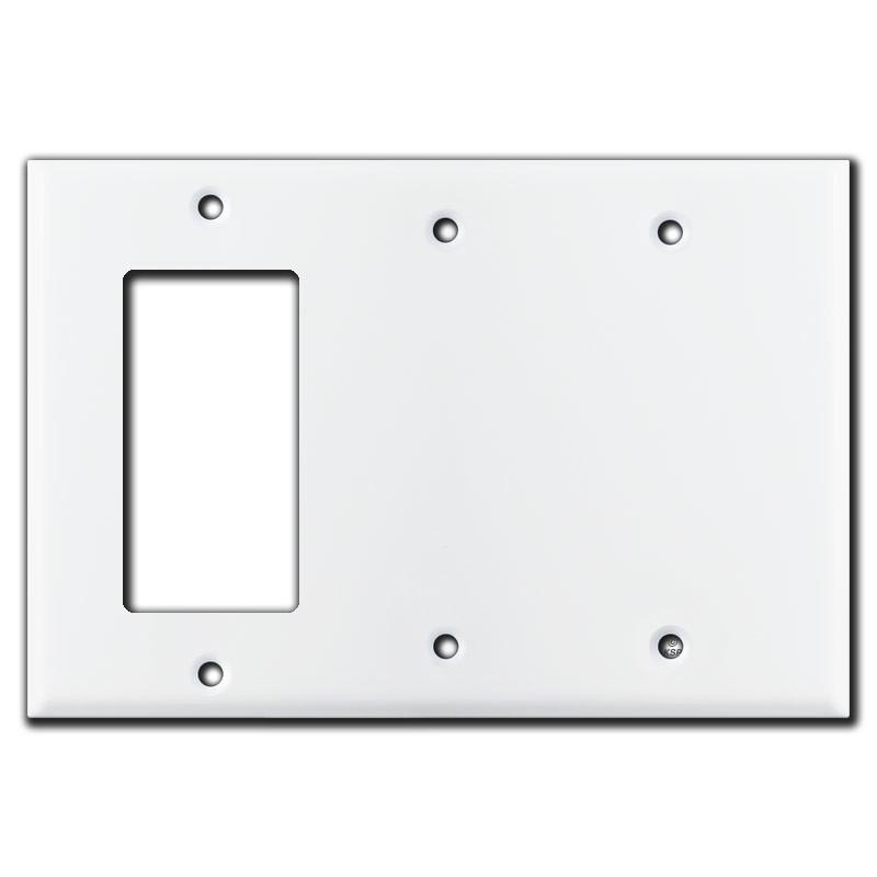 1 Gfci Decora Rocker 2 Blank Combination Switch Covers White
