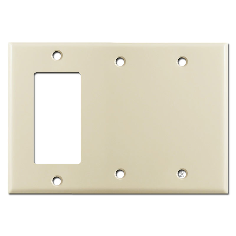 1 Gfci Decora Rocker Switch 2 Blank 3 Gang Wall Plates Ivory