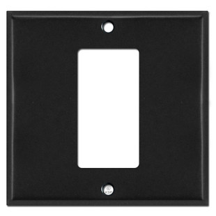 1 Decora Rocker Center 2-Gang Switch Wallplate - Black