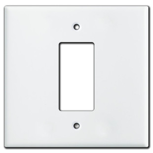 Jumbo 2 Gang Centered 1 Decora Switch Wall Plate Covers