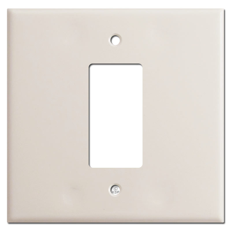 sc 1 st  Kyle Switch Plates & Jumbo 2 Gang Centered 1 Decora Switch Wallplates - Light Almond