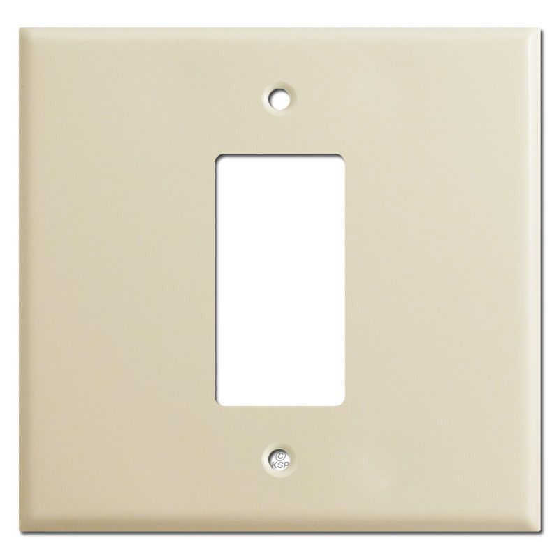 Oversized Light Switch Covers New 2Gang Middle 1 Decora Switchplate Covers  Ivory Decorating Inspiration