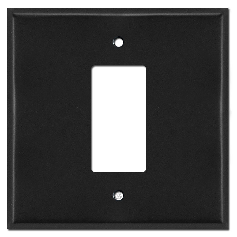 Oversized Light Switch Covers Interesting 2 Gang 1 Center Decora Light Switch Plate Covers  Black Design Decoration
