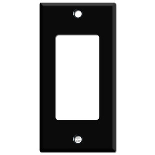 "2.25"" Skinny Decora Rocker GFCI Light Switchplates - Black"