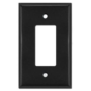 Oversized Single GFCI Decora Rocker Switch Plate Covers - Black