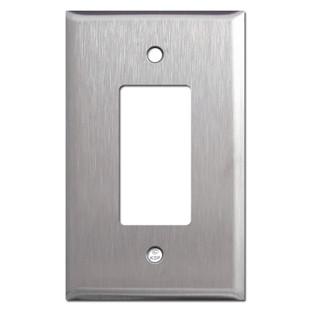 Large GFI Decora Rocker Switch Plates - Spec Grade Stainless Steel