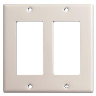 2 Decora Rocker Switch Plate - Light Almond