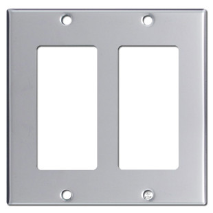 Double Rocker Switch Plate Cover - Polished Chrome