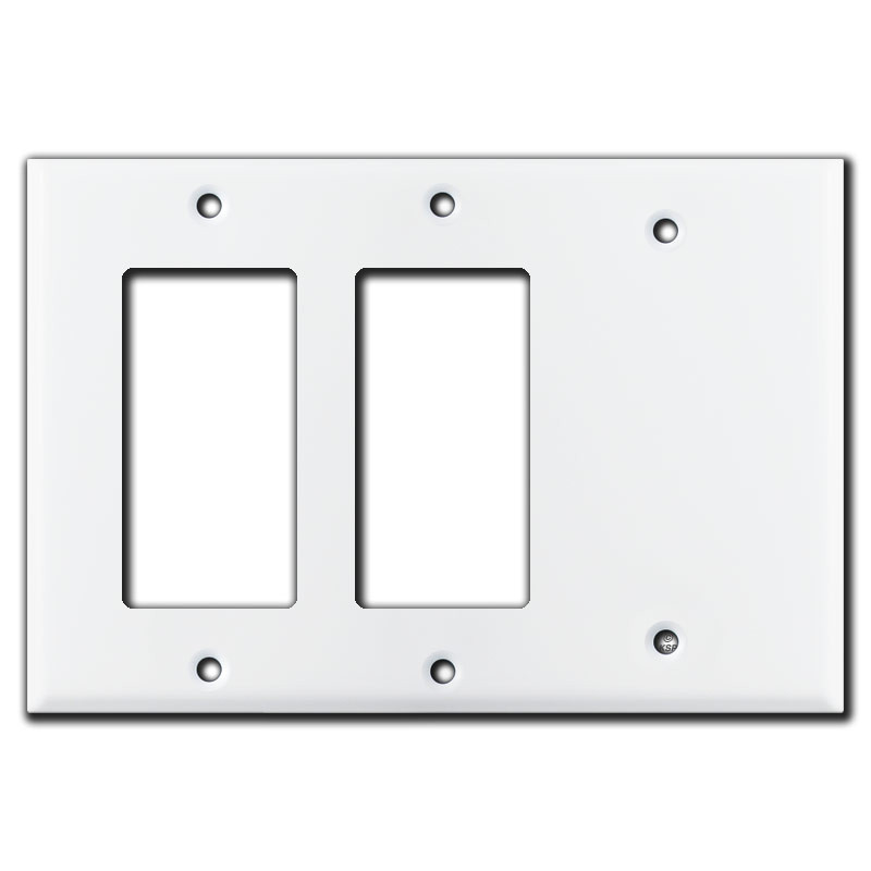 2 GFCI Decora Rocker 1 Blank Combo Switch Plates White