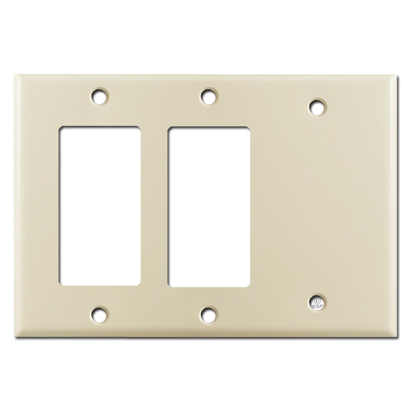 2 Gfi Decora Rocker Switch 1 Blank Wall Plates Ivory