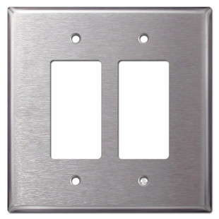 Larger 2 Rocker Switch Covers - Spec Grade 302 Stainless Steel