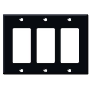 3 Decora Rocker GFCI Switch Plate Cover - Black