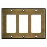3 Decora Rocker GFI Switch Plates - Antique Brass