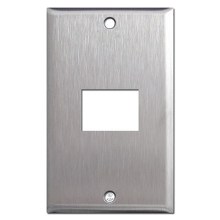 Old GE RCS 1 Low Voltage Switch Plates - Spec Grade Stainless Steel