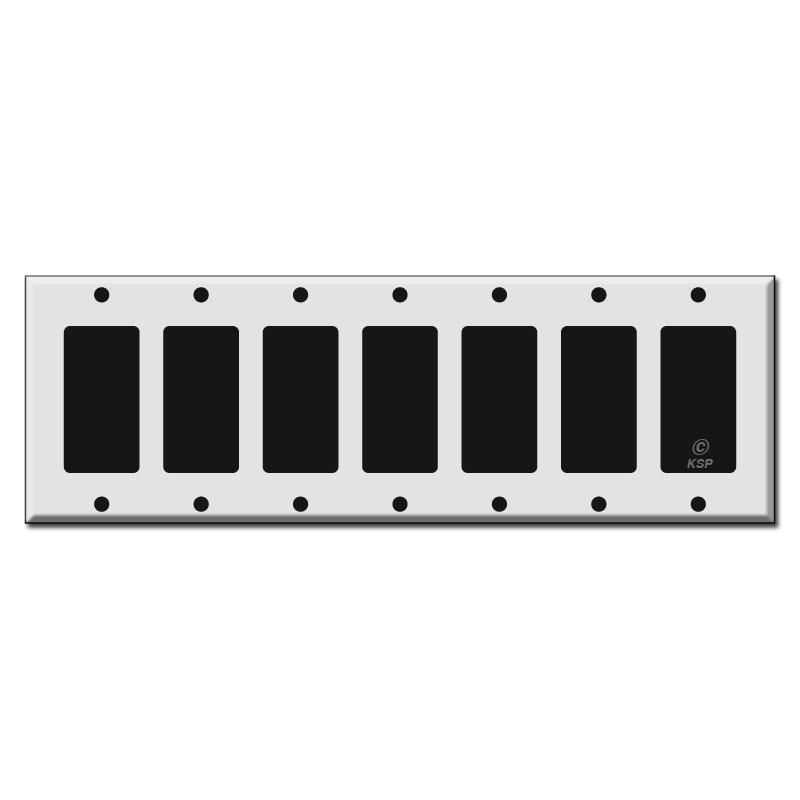 7 Gang Rocker Switch Plate Kyle Switch Plates