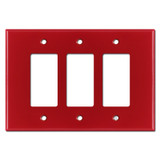 Oversized Triple Gang 3 Decora Rocker Jumbo Switch Plate - Red
