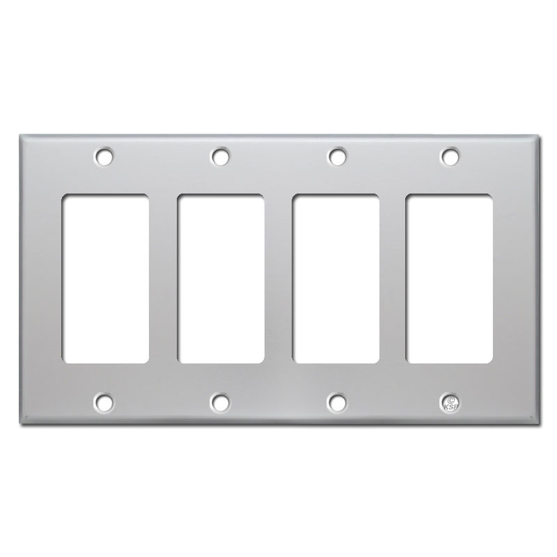 4 Switch Plate Unique Gfi Outlet Or Rocker Switch Plate Covers  Brushed Aluminum Decorating Design