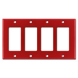4-Gang Four Decora Rocker Light Switch Covers - Red