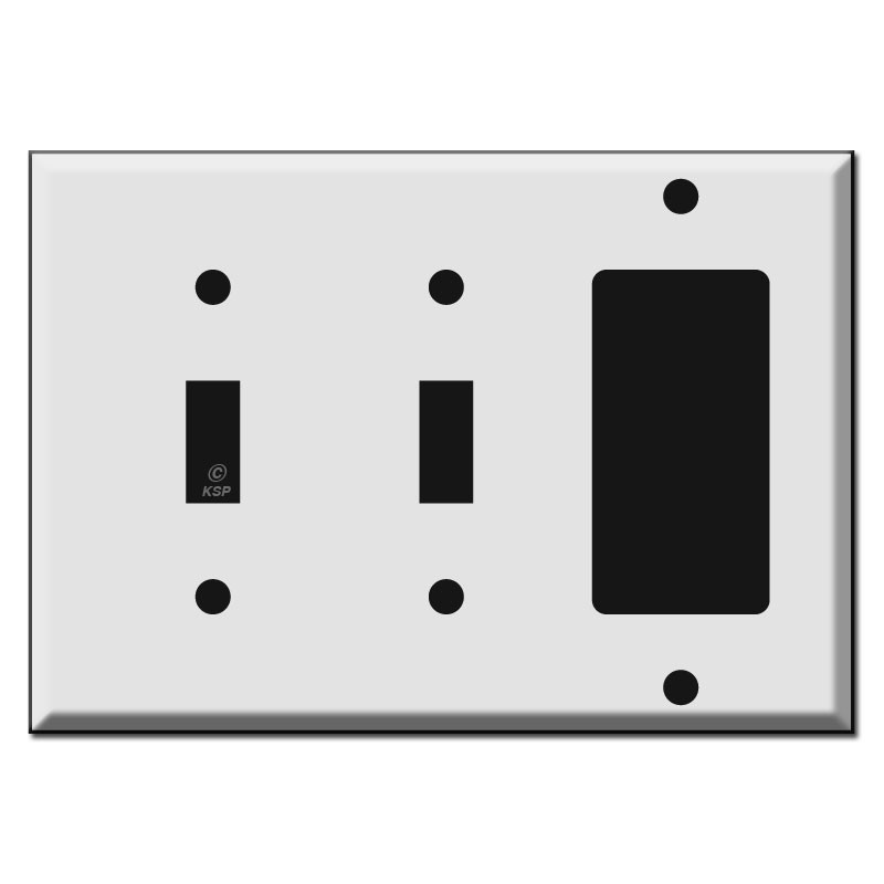 2 Toggle 1 Decora Switch Plate : Kyle Switch Plates