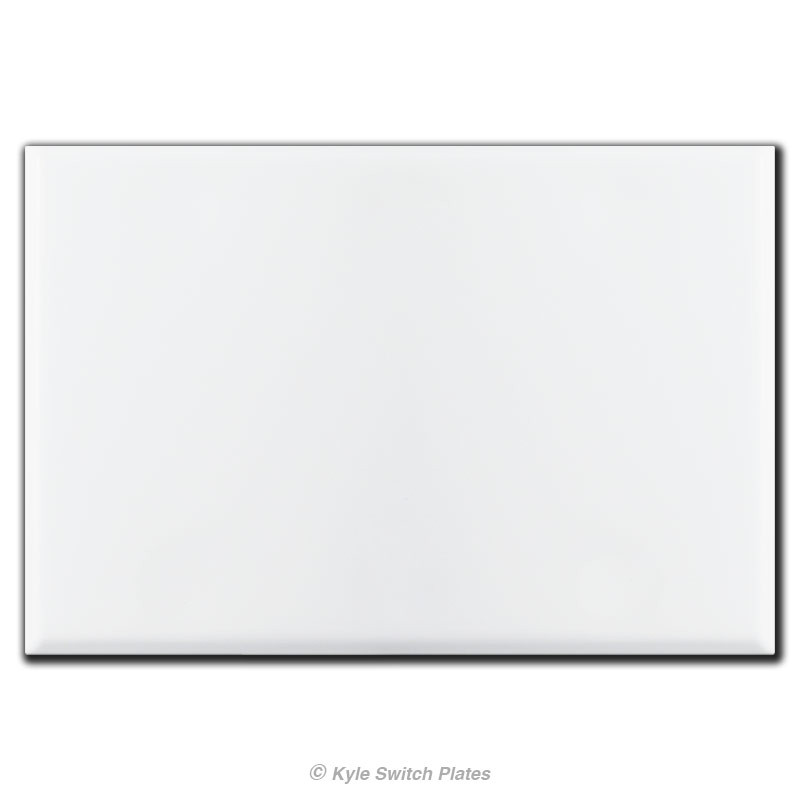 Gang All Blank Wall Switch Plate Covers with No Holes White