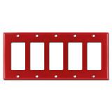 5 Decora Rocker GFI Switch Plates - Red