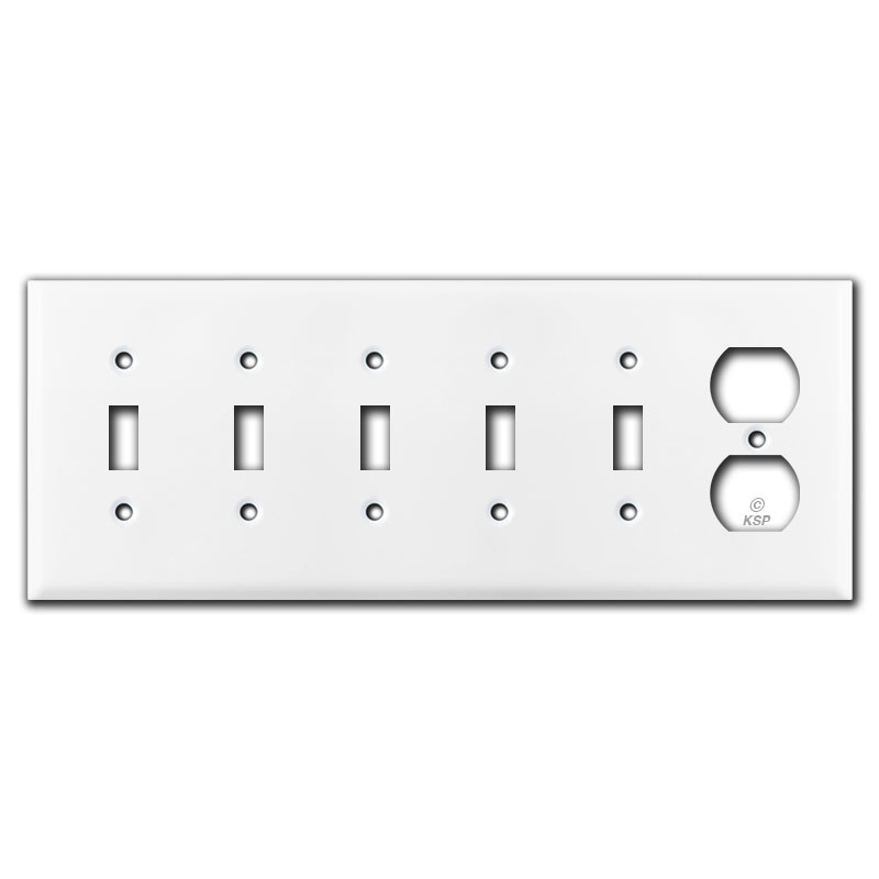 5 Switch Outlet Cover Adorable Toggle & 1 Duplex Outlet Switch Plate Cover  White Design Ideas