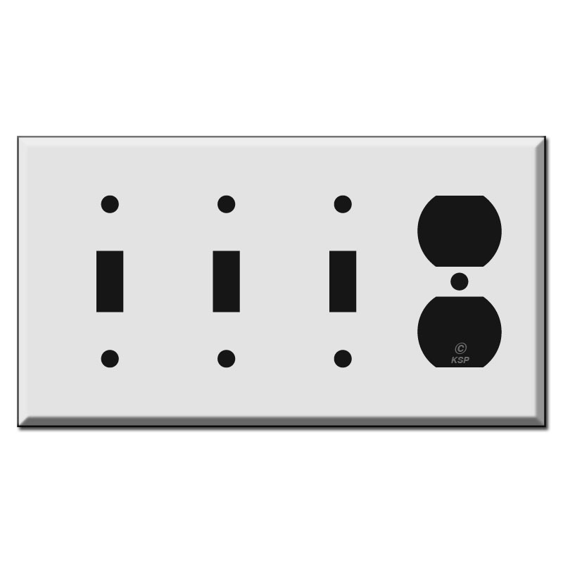 3 Toggle 1 Outlet Cover Plate Kyle Switch Plates