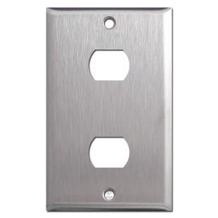 2 Switch Despard Wallplate - Satin Stainless Steel