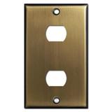 2 Despard Light Switch Plate - Antique Brass